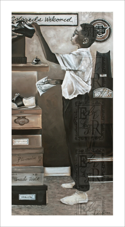 If the Shoe Fits Limited Edition Giclee on canvas Edwin Lester