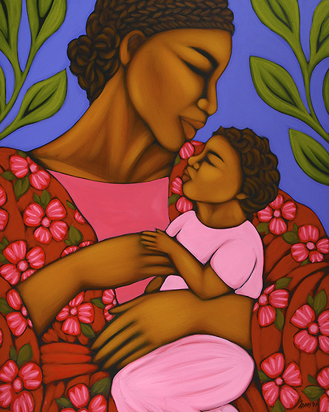 African Mother and Child Open Edition Print Tamara Adams $35.20
